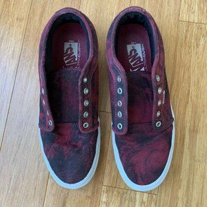 Vans UltraCush Skate Shoes Red Black Ombre 10 Mens